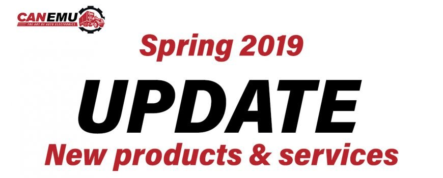 CANEMU UPDATE, SPRING 2019 - New products & services